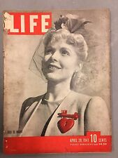 LIFE MAGAZINE APRIL 28, 1941 RED IS RIGHT NAZIS ATTACK SUEZ CANAL LISBON