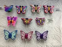 LOT OF BUTTERFLY JIBBITZ BUTTERFLY SHOE CHARMS FITS CROCS BUTTERFLIES WITH GEMS