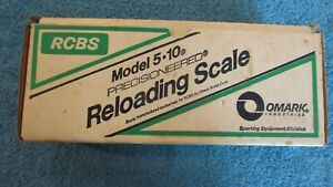 RCBS MODEL 5-10  Reloading Powder Scale with Original Box and Instructions