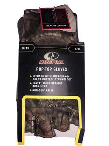 MOSSY OAK Pop Top Gloves Men L/XL Camo Hunting