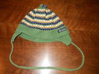 Baby - Mütze - Dolli - Strick - grün/weiß/gelb/blau - ca. 17 cm Durchmesser