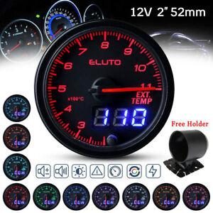 2'' 52mm 10 color LED Digital Car Exhaust Gas Temp Gauge EGT Temperature Meter
