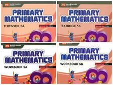 Primary Mathematics Grade 5 Kit (Common Core ED)-Workbooks 5A+5B,Textbooks 5A+5B