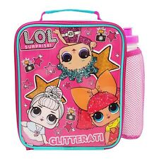 LOL Suprise Glitterati Insulated School Lunch Bag & 450ml Bottle