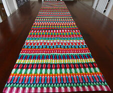 TABLE RUNNER 'SERAFIN' ALL THE BRIGHT COLOURS OF A MEXICAN PARTY 34 X 180 LONG