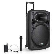 [OCCASION] IBIZA SOUND SONO PORTABLE AMPLIFIEE DJ PA HAUT PARLEUR BLUETOOTH 38CM