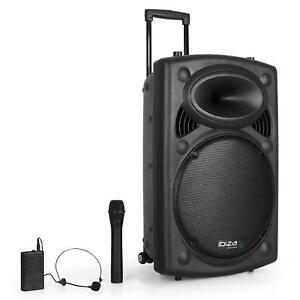 [RECONN.] IBIZA SOUND SONO PORTABLE AMPLIFIEE DJ PA HAUT PARLEUR BLUETOOTH 38CM