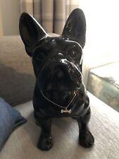 French Bulldog Ornament Sculpture Statue Standing Animal Home Decor Black Gloss
