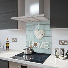 Home Is Where The Heart Is Toughened Glass Splashback Resistant to 500°C