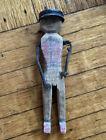 """Vintage Depression Era Folk Art Carved Wood Soldier Folk Art 7"""" Stella's Doll For Sale"""