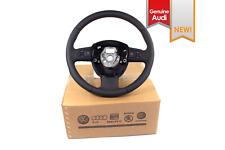 NEW EURO OEM Audi A3 8P Black Leather Multifunction Steering Wheel '03-12 NOS