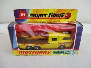 Matchbox Lesney Racing Car Transporter K-7 Boxed Superkings
