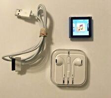 Apple Ipod Nano 6th Gen 8GB ( Blue ) Bundle - Headphones and Sync Cable
