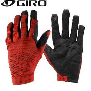 Giro XNETIC Knit Trail MTB Gloves -  Red / Orange