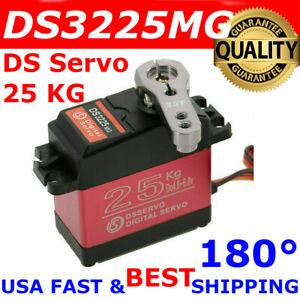 DSSERVO DS3225MG 25KG 180° Waterproof Metal Gear High Torque Digital Servo RC US