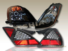 FIT 2003-2005 350Z FAIRLADY BLACK PROJECTOR HEADLIGHTS+ LED TAIL LIGHTS