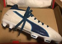 Puma EvoTouch FG Youth Soccer Cleats White Blue Sz 2 New 103755-02