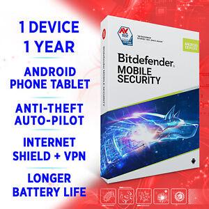 Bitdefender Mobile Security for ANDROID 2021 1 Gerät 1 Jahr + VPN