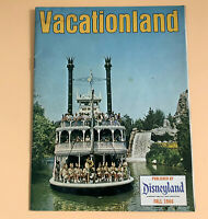 Disneyland Vacationland Magazine Vintage Fall 1966 Disney 24 pages