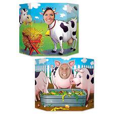 Corral Foto Prop - 94 X 64cm-Decoración Fiesta Animal Farmyard-Cerdos & Vaca
