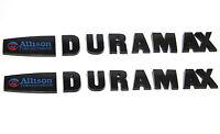 2x OEM ALLISON DURAMAX EMBLEMS for GM SILVERADO 2500HD 3500HD HD Black c