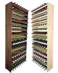 Weinregal Flaschenregal Weinschrank für 135 Flaschen 198 cm RW-3-135 / 2 FARBEN