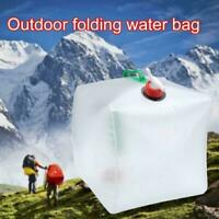 20L Water Carrier Container Foldable Collapsible With Bottles Tap Camping Y9F3