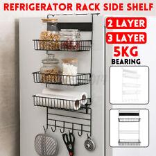 2/3 Tier Kitchen Multi Rack Magnetic Refrigerator Storage Shelf Fridge
