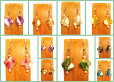10 PCS Handmade Mother of Pearl Shell Earrings 10 COLOR Party Pack WHOLESALE LOT