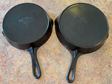 New listing Wagner Ware Lot National 1056 1358 Cast Iron Skillet w/ Heat Ring