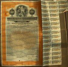 German Berlin Electric & Underground Railways. $500 Gold bond, 1926