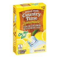 1 Country Time Lemonade On the Go Powder Water Drink Mix Sugar Free (6 Packets)