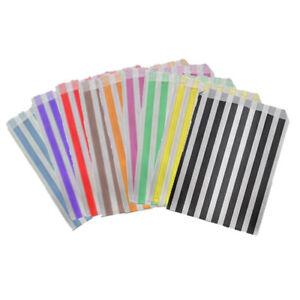 """Paper Party Bags Stripe 10"""" x 14"""" Candy Cart Birthday Pick Mix Sweets Gift Large"""