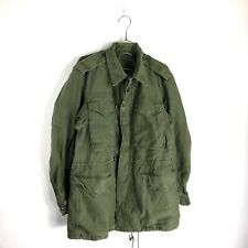 Vintage US Army M-1951 Jacket Shell Field Coat Green Small Red 50s Korean War