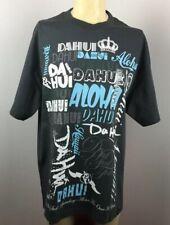 DA HUI Hawaii Hawaiian Dahui Aloha T-Shirts Charcoal Cotton XL NEW Surf/Surfing