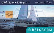 Belgacom telecard  200 BEF Sailing for Belgium  trimaran  exp 28-06-2003