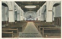 LOS ANGELES CA – Our Lady Queen of the Angels Church Interior