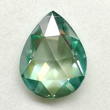 Fancy Rose Cut Loose Moissanite 4 Ring 1.01 Ct 7.56x5.96 mm/Vvs1 See Green Pear