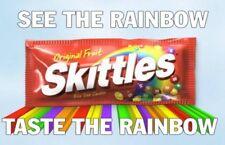 Rainbow 120ML Juice Skittles sweet sour FLAVOR 120 ml liquid drip skittle bottle
