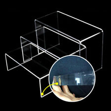 Transparent Acrylic Riser Stand Set Jewelry Collectible Showcase Home Display