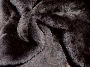 sheepskin shearling leather hide Dark Brown Silky Hair w/Asst. Brown Suede backs