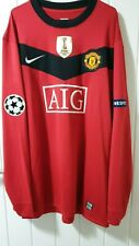Manchester United Player Issue Nemanja Vidic Home Shirt 2009/10 UCL version XXL