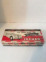 """VINTAGE 1/2"""" scale sport car Berkeley's British Jaguar carved balsa kit from 53"""