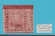 PANAMA  144  NO GUM DOUBLE OVERPRINT NO ACCENT ON A VARIETY