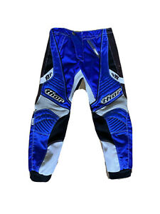 thor MX motocross kids riding blue pants size 20 Boys