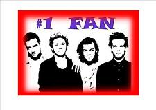 One Direction Fan Wall Plaque Metal Wall Sign Bedroom Sign