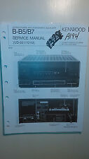 Kenwood b-b5 b7 service manual original repair book stereo amp graphic eq
