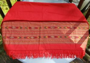 Unisex Premium 100% Pure Silk Long Scarf Classic Pretty Fall Colors Red Fringed
