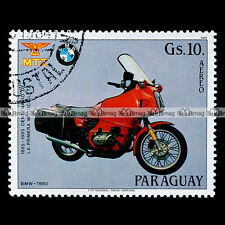 ★ BMW R100 RT 1980 (R 80 100) ★ PARAGUAY Timbre Poste Moto Motorcycle Stamp #76