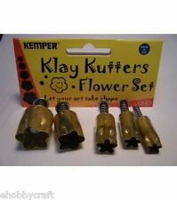 Kemper Clay, Dough,Sugarpaste Cutter Set Plunger Style -#PCSF Flower Set